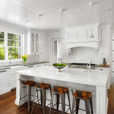 Beautiful White Kitchen Remodel