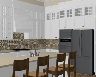 3D Kitchen Rendering by Benchmark Design Remodel in Raleigh NC