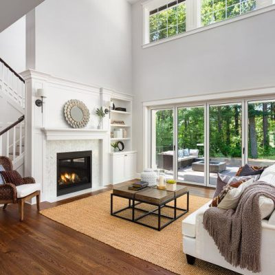 Living Room Remodel - Large Windows to Bring the Outdoors In