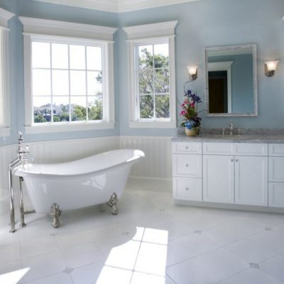 Bathroom Remodel with New Cabinets, Countertops and Clawfoot Tub