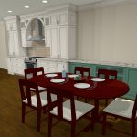 3D Council Kitchen Remodel Design by Benchmark Remodel