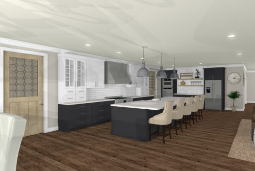Riverbirch Remodeling 3D Kitchen Floor Plans