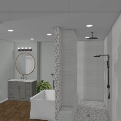 Riverbirch Remodeling Luxury Master Bathroom Design - The Five Points East Design