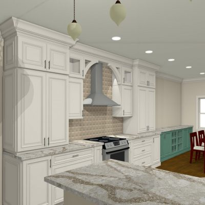 3D Kitchen Remodel Design by Riverbirch Remodeling