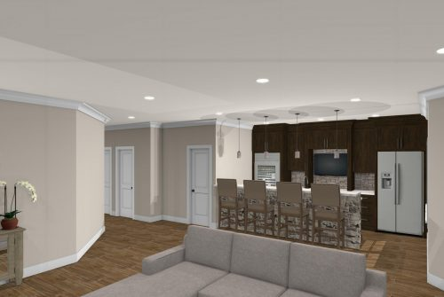 Riverbirch Remodel Full Basement finishes