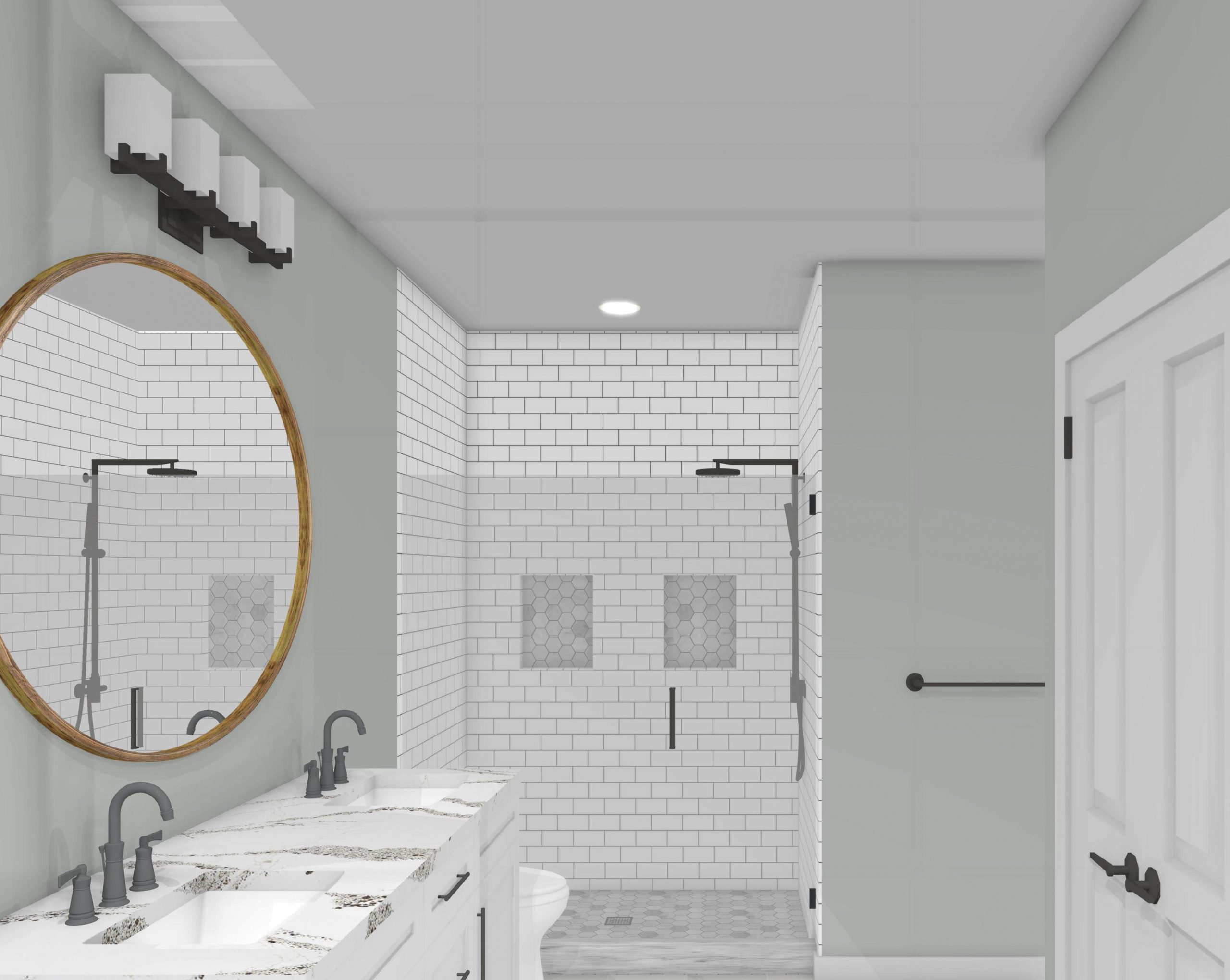 Basement Finish Bathroom 3D View