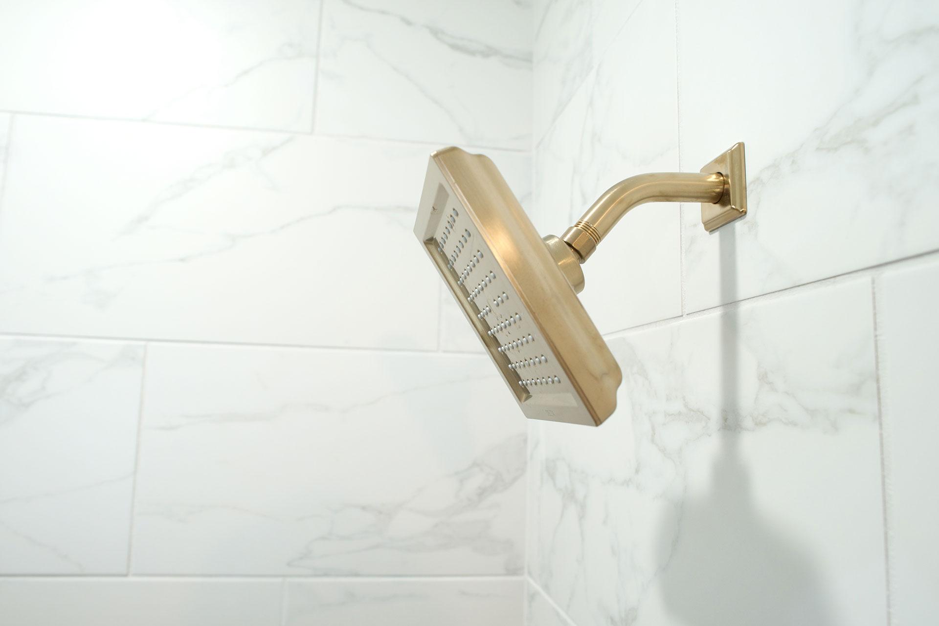 Shower head in Basement finish