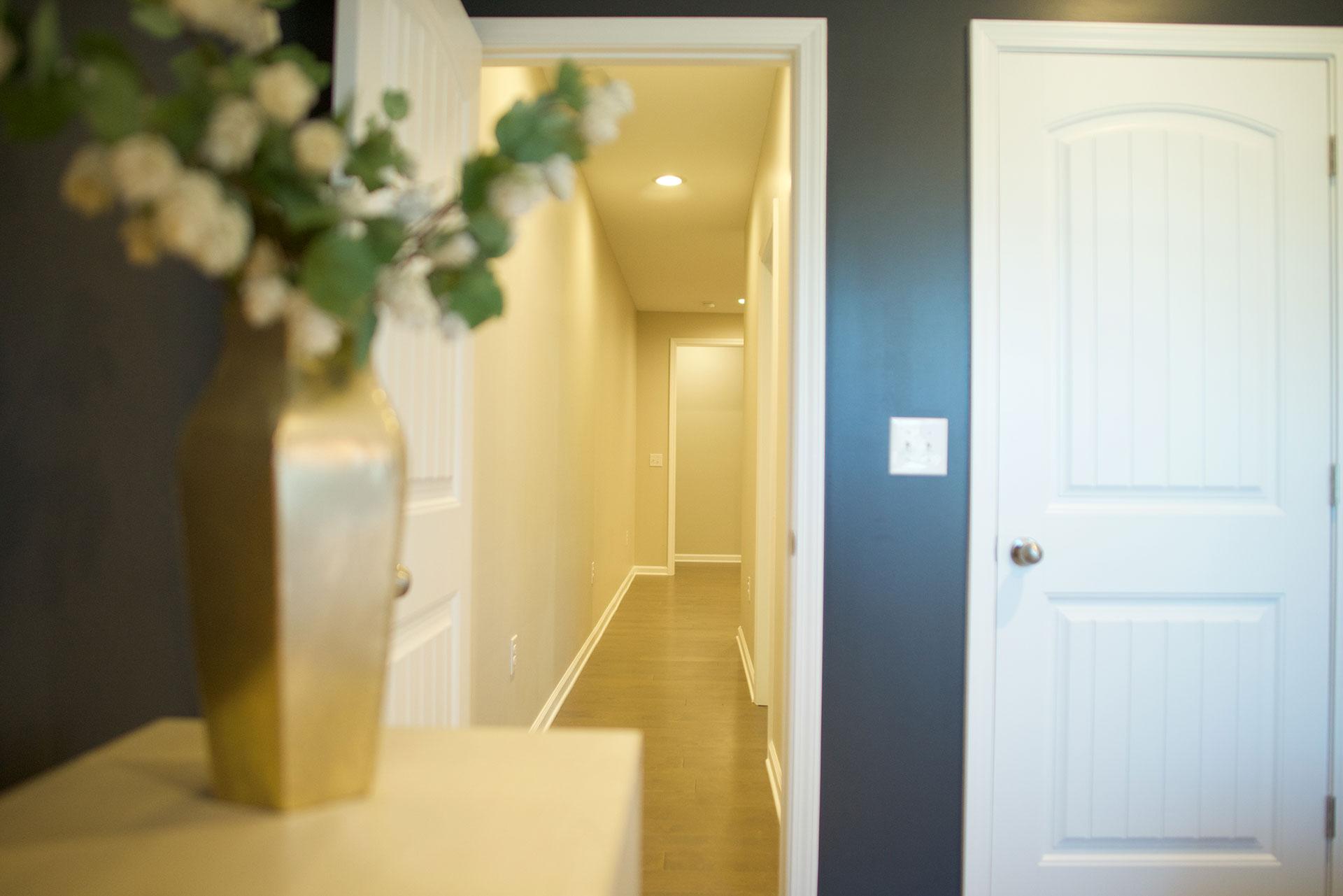 Hallway in Basement Finish Clayton NC