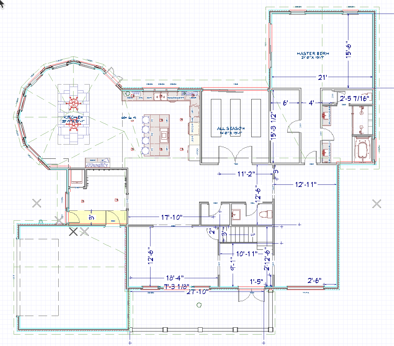 Floor Plans designed by Riverbirch Remodeling of Raleigh NC